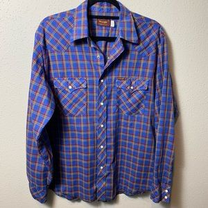 PEARL SNAP WRANGLER Womens Large Button Down